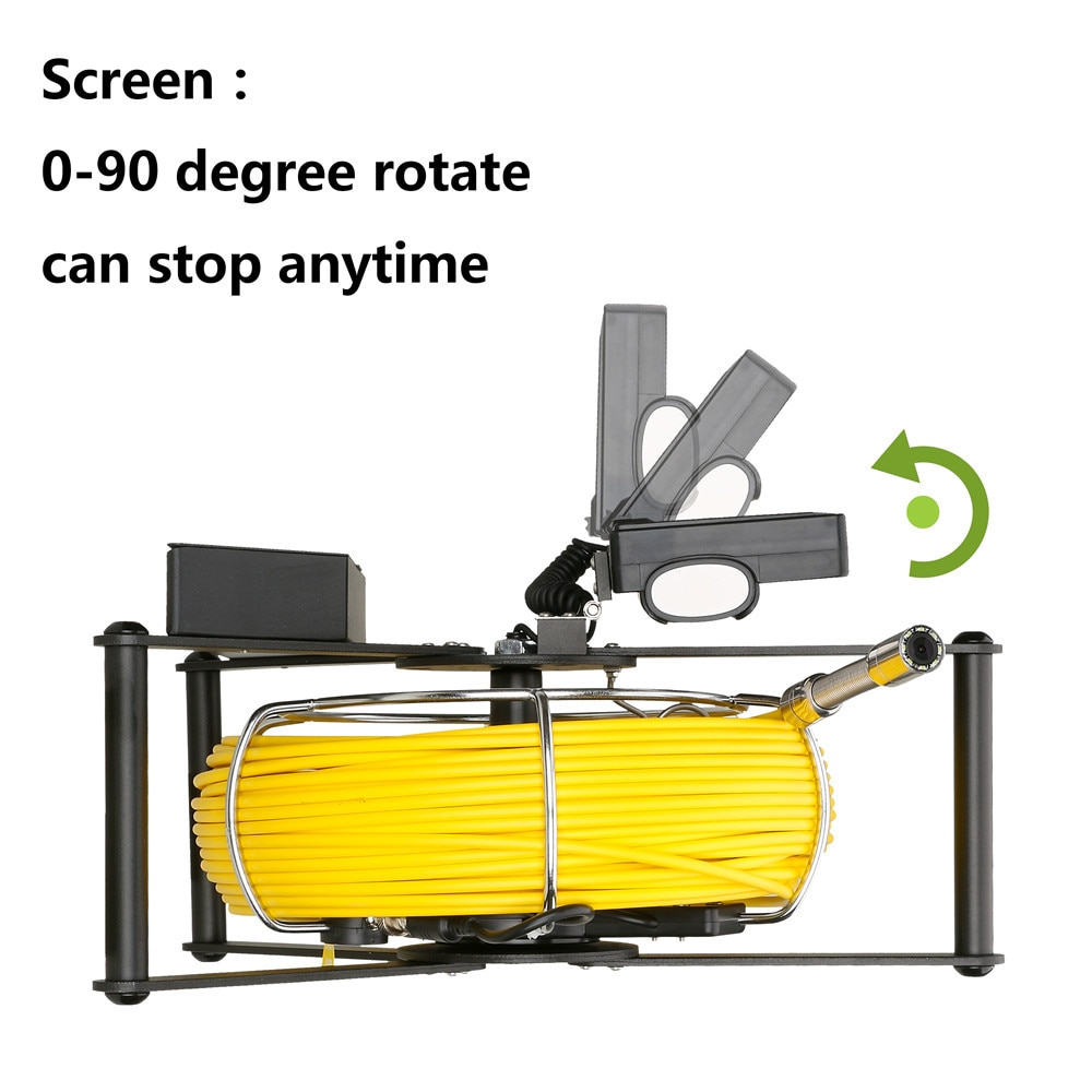 MAOTEWANG Sewer Pipe Inspection Camera with Sewer Drain Industrial Endoscope IP68 5600MHA Battery 4.3inch IPS Color Monitor