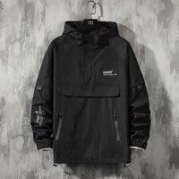 men jackets and coats loose streetwear casual outwear coats hip hop mens windbreaker overcoat