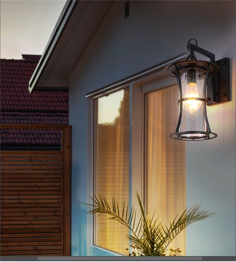 Hongcui New Outdoor Wall Light Classical LED Sconces Lamp Waterproof IP65 Decorative For Home Porch Villa enlarge