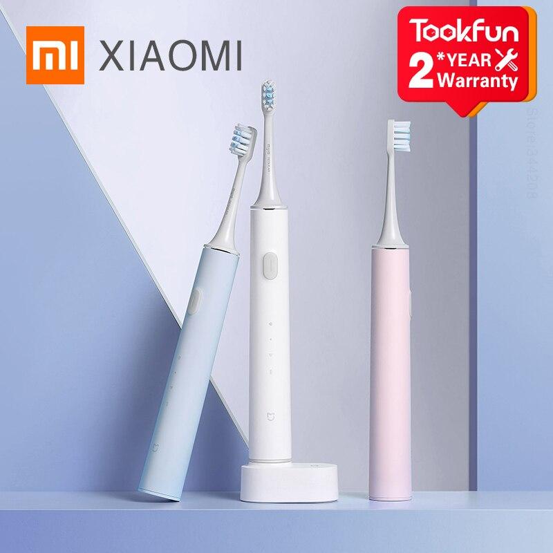 XIAOMI MIJIA-فرشاة أسنان كهربائية لاسلكية T500 ، فرشاة سونيك ذكية ، تبييض الأسنان ، هزاز ، نظافة الفم ، جديد