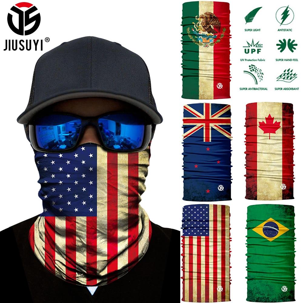3D לאומי דגל הדפסת צעיף צוואר גייטר נדנה מעגל לולאה קיץ שמש מגן צוואר צינור טבעת צעיפי גברים כובעי גרב