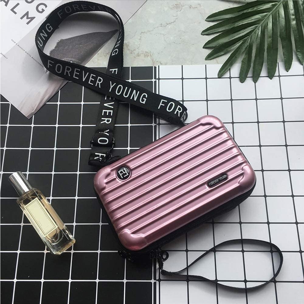 Women Crossbody Bag, Hard Case Fashion Shoulder Bag Messenger with Wristlet Casual Phone Holder Clutch Bags