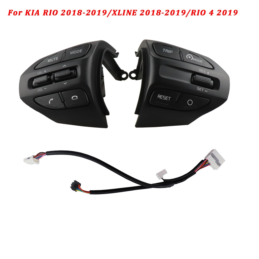 Para Kia K2 RIO X-LINE 2017 2018 2019 RIO 4 volante multifunción Bluetooth botón de Control de velocidad de crucero interruptor de Audio