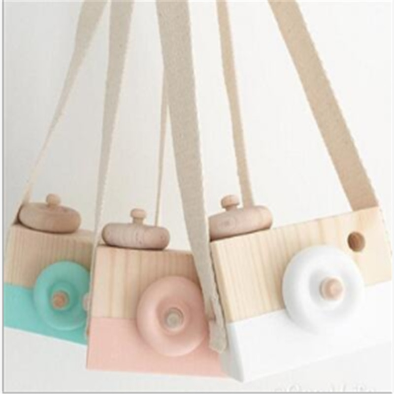 Wooden Camera Toys Cute Nordic Hanging Kids Toy Gift Room Decor Furnishing Articles Wooden Toys For Kid 10*8*5.5Cm