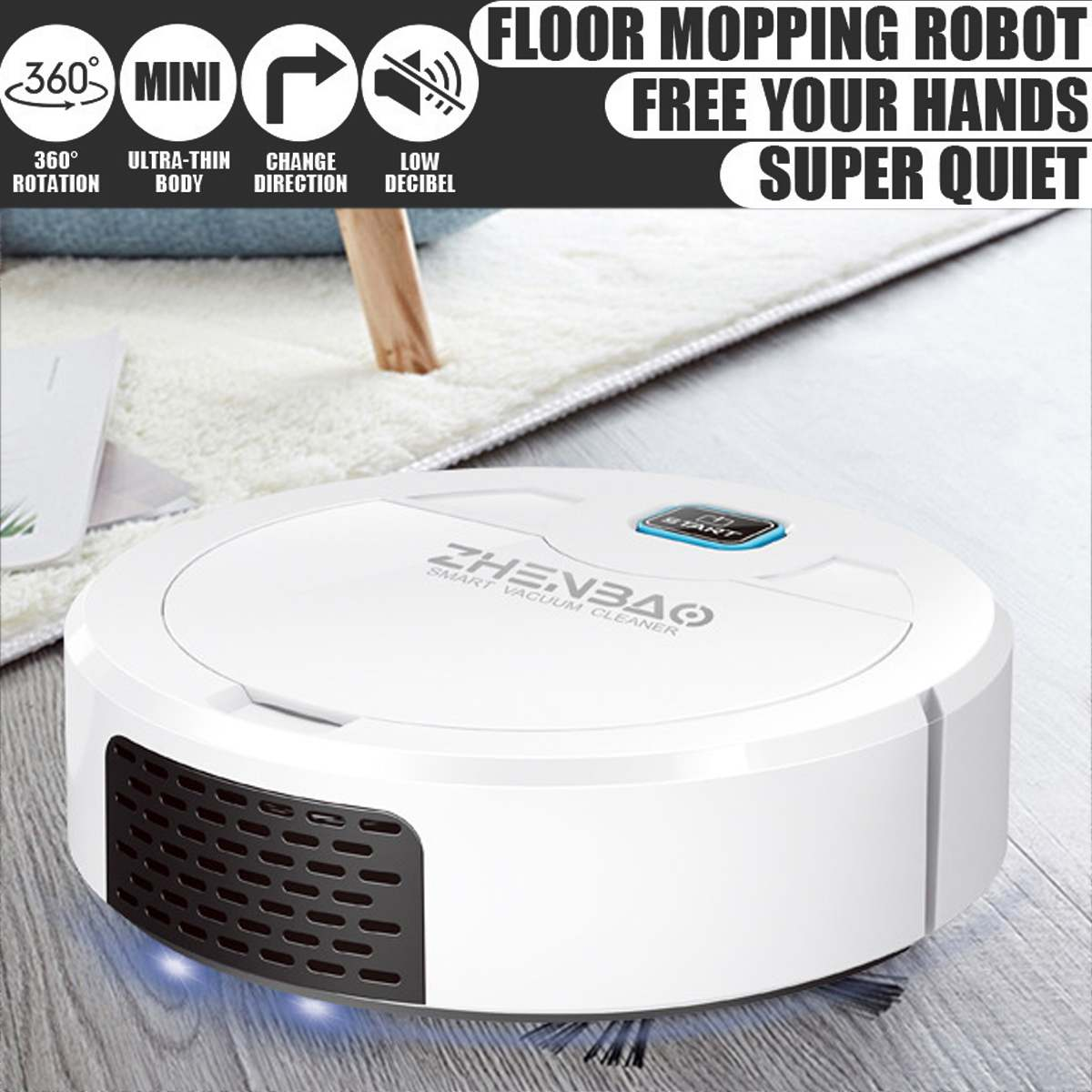 Фото - Smart Robot Vacuum Cleaner Rechargeable Household Automatic Sweeping Machine Home Floor Carpet Cleaning Robots Dust Sterilize xiaomi mijia 1s mi robot vacuum cleaner for home automatic sweeping charge smart wifi app remote control dust sterilize rc cleaner