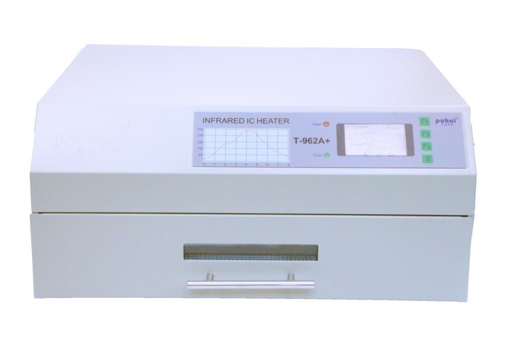 PUHUI T-962A + horno de reflujo de sobremesa 220V 2300W calentador infrarrojo IC control de temperatura de la computadora 350mmX400mm BGA horno de onda de reflujo