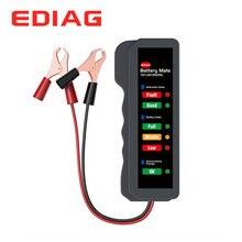 EDIAG Батарея тестер BM310 12V Медь Кабельный Зажим Автомобильный цифровой 6 светодиодный светильник накаливания авто Мощность анализатор