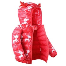 2020 New Winter Fashion Hooded Children Clothing Baby Cute Cartoon Deer Print Coats Kids Boys Outfit