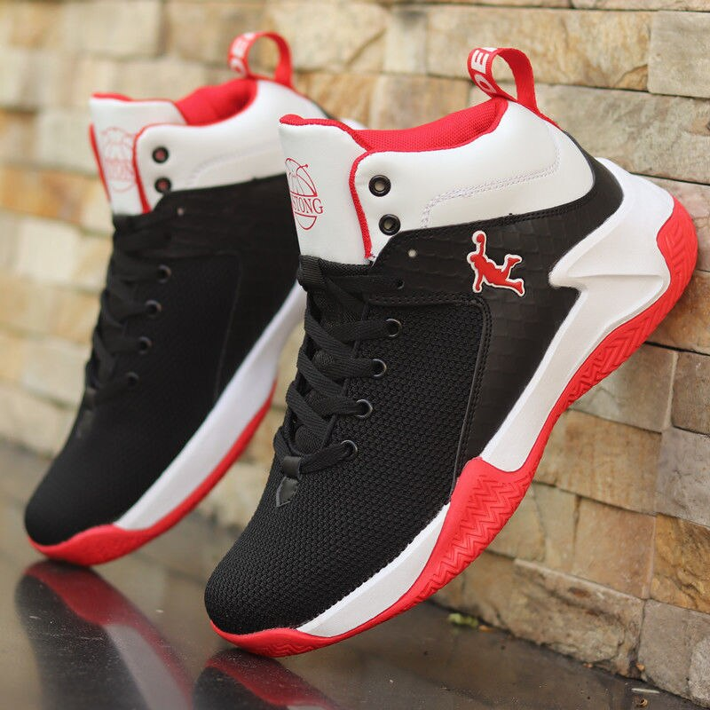 Basketball, running, walking sneakers Basketball shoes men's new high school students breathable sneakers non-slip wear