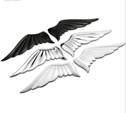 1 pair 3D Metal Angels Wings Car Auto Decoration Emblem Badge Decal Logo Sticker  Styling