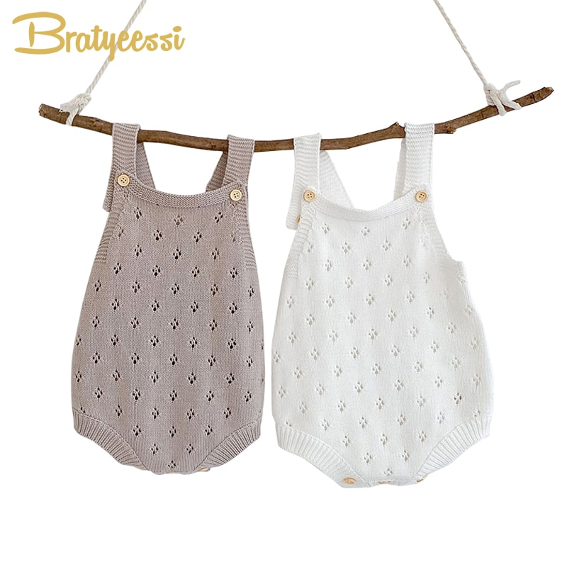 New Knit Baby Romper Winter Jumpsuit for Kids Clothes Solid Baby Overalls for Girl Boy Infant Onesie