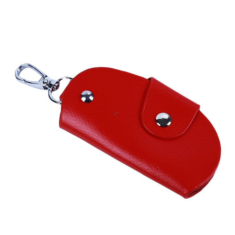 Pu Leather Key Case For Car  Key Holder Key Wallets Men Unisex Keys Organizer Keychain Covers Hasp K
