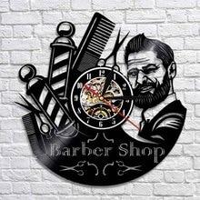 Парикмахерская ocklock декоративные настенные часы парикмахерские виниловые настенные часы современный дизайн 3D часы Настенный декор для пар...
