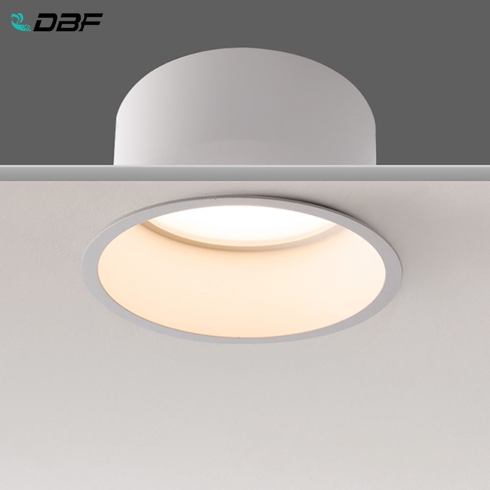 [DBF No parpadeo profundo brillo LED COB Downlight empotrable 5W 7W 12W 15W LED blanca redonda foco de techo Foto fondo