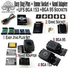 2019 original new easy jtag plus box + emmc socket + nand adapter + ufs bga 153 socket + ufs bga 95 socket adapter