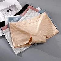 2021 safety short pants 100 cotton fashion threaded boxer shorts honeycomb antibacterial sexy lingerie seamless underwear women