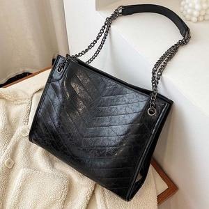 2020 Spring Large Capacity Vintage High Quality Leather Women Handbags Chain Shoulder Messenger Bag Lady Handbags Travel Totes
