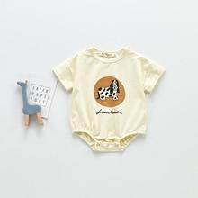 ATUENDO Summer Kawaii Newborn Baby Rompers 100% Cotton Cute Silk Girl's Clothes Jumpsuit Fashion Sat