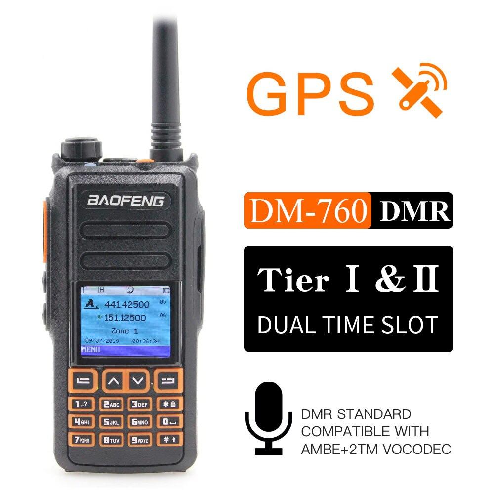 جديد BaoFeng DM-760 مع وظيفة GPS المزدوج الفرقة 136-174 و 400-470mhz DMR الرقمية راديو الطبقة 1 و 2 التوقيت المزدوج فتحة اسلكية تخاطب