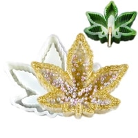 diy crystal maple leaf uv epoxy ashtray silicone mold handmade soap crafts making tool for epoxy resin mold home decor craft