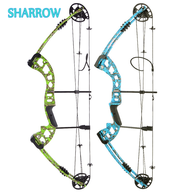 30-55 Lbs Compound Bow Set Camo Composite Bow Right Left Hand for Outdoor Archery Bow and Arrow Hunting Shooting Accessories