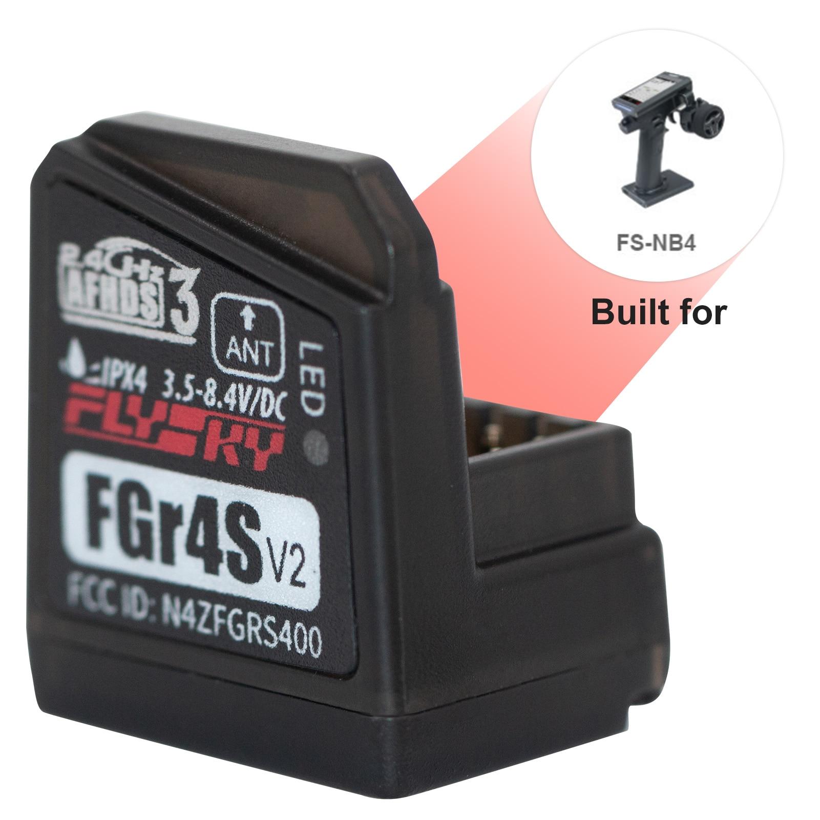 Flysky-جهاز استقبال FGR4S V2 AFHDS 3 ، ثنائي الاتجاه ، PWM /PPM / IBUS ، لجهاز إرسال Flysky NB4 PL18 RC