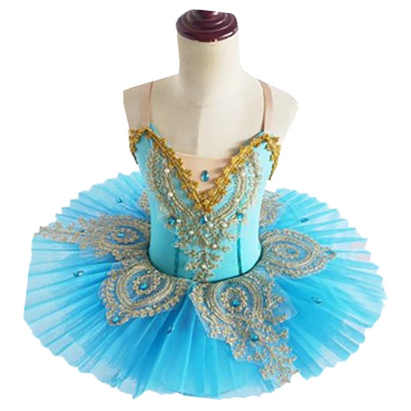 Swan Lake-زي الباليه توتو للفتيات ، عرض مسرحي ، فستان رقص احترافي للأطفال