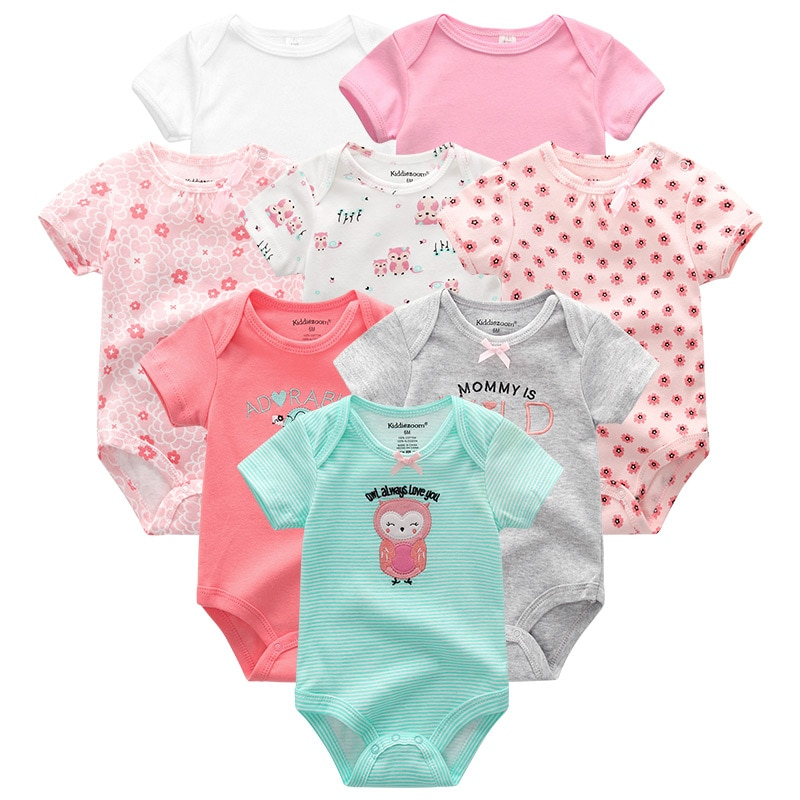 Baby Clothes 8Pcs/lots Unisex Newborn Boy Bodysuits roupas de bebes Cotton Baby Girls Toddler Jumpsuits Baby Clothing undefined