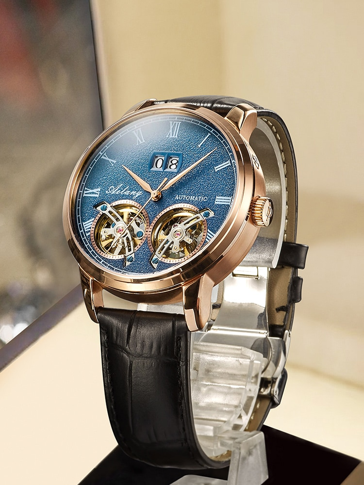 AILANG Original Design Watch Men's Double Tourbillon Automatic Mechanical Watch Fashion Casual Business Men's Clock
