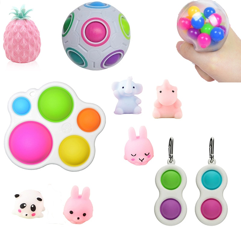 Newest Fidget Simple Dimple Toy Fun Soft Pineapple Anti Stress Ball Stress Reliever Hand Fidget Toys For Kids Adults Autism Toys enlarge