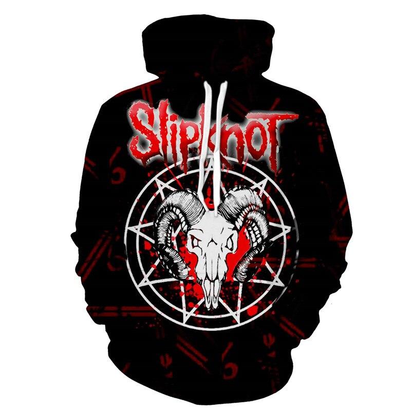 Sudaderas Hombre de una pieza Slipknot banda Metal impreso hombres sudaderas Hip Hop Superm hombres Streetwear ocio moda Chándal Tops