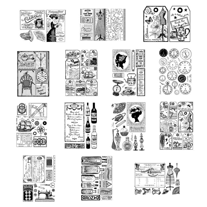 New Arrival Clear Stamps 2021 For Scrapbooking Paper Making Words Label Postmark Account Craft Set Card Transparent Seal