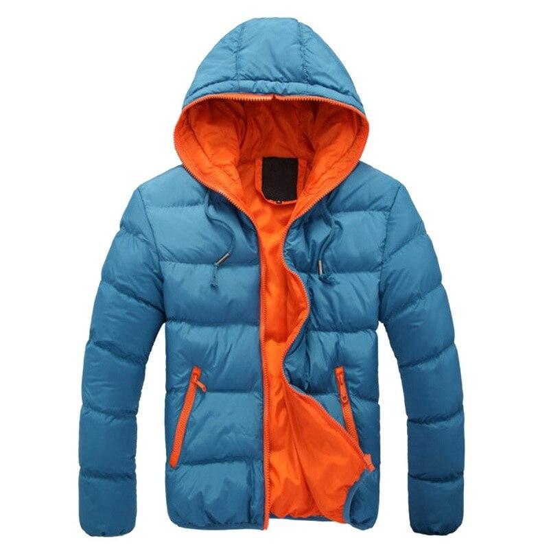 Hoody Short Winter Thin  Jacket Wave Cut Parka Hombre Casual Zipper Men Clothes Hooded Coat Plus Size 4XL Ropa Hombre Invierno