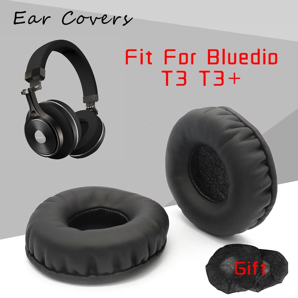 Ear Pads For Bluedio T3 T3+ Plus Headphone Earpads Replacement Headset Ear Pad PU Leather Sponge Foam