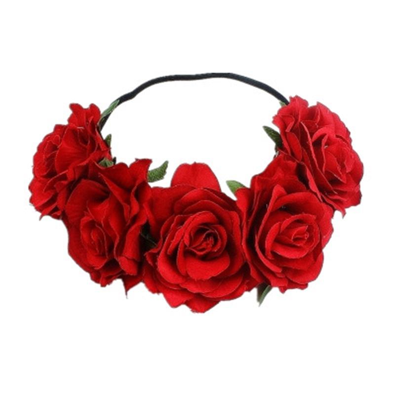 Повязка на голову с имитацией цветка розы, вечерние аксессуары для волос на выпускной в европейском и американском стиле