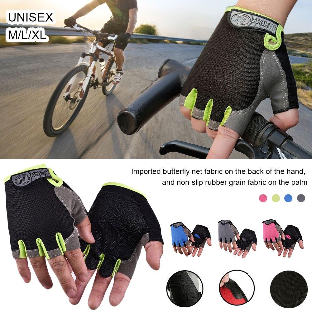 Half Finger Cycling Gloves Shock-Absorbing Anti-Slip Breathable Sports Gloves for Men Women