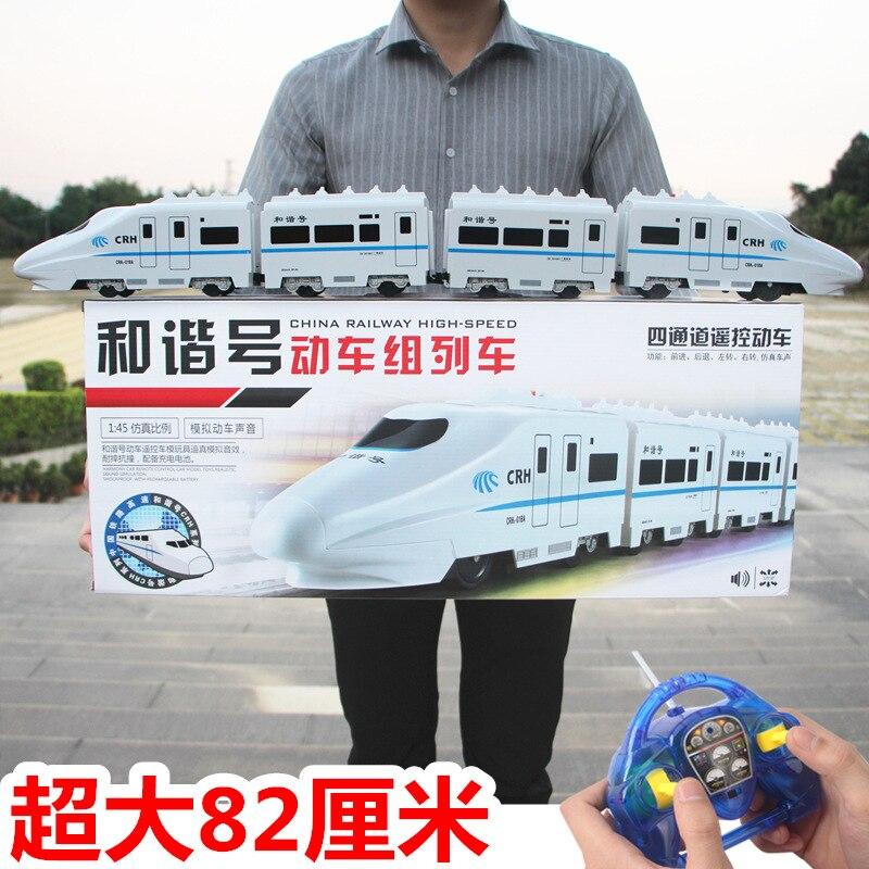 Tren de juguete simulación eléctrica tren bala de alta velocidad modelo de tren grande juguete para niños niño control remoto Número de armonía