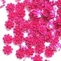 100pcs 1213mm rose resin flowers decorations crafts flatback cabochon for scrapbooking diy accessories