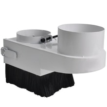 Diy cnc 도구 먼지 커버 수집가 시리즈 블루 브러시 진공 청소기 cnc 스핀들 모터 목공