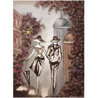 Peinture diamant theme parapluie pour Couples  bricolage  perceuse carree complete  mosaique  broderie  loisirs creatifs  strass  decoration de maison  EE1557