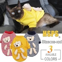 cat dog cute hoodies pet clothes for small dogs clothing coat warm sweatshirt for chihuahua pug cotton puppy teddy bear outfits
