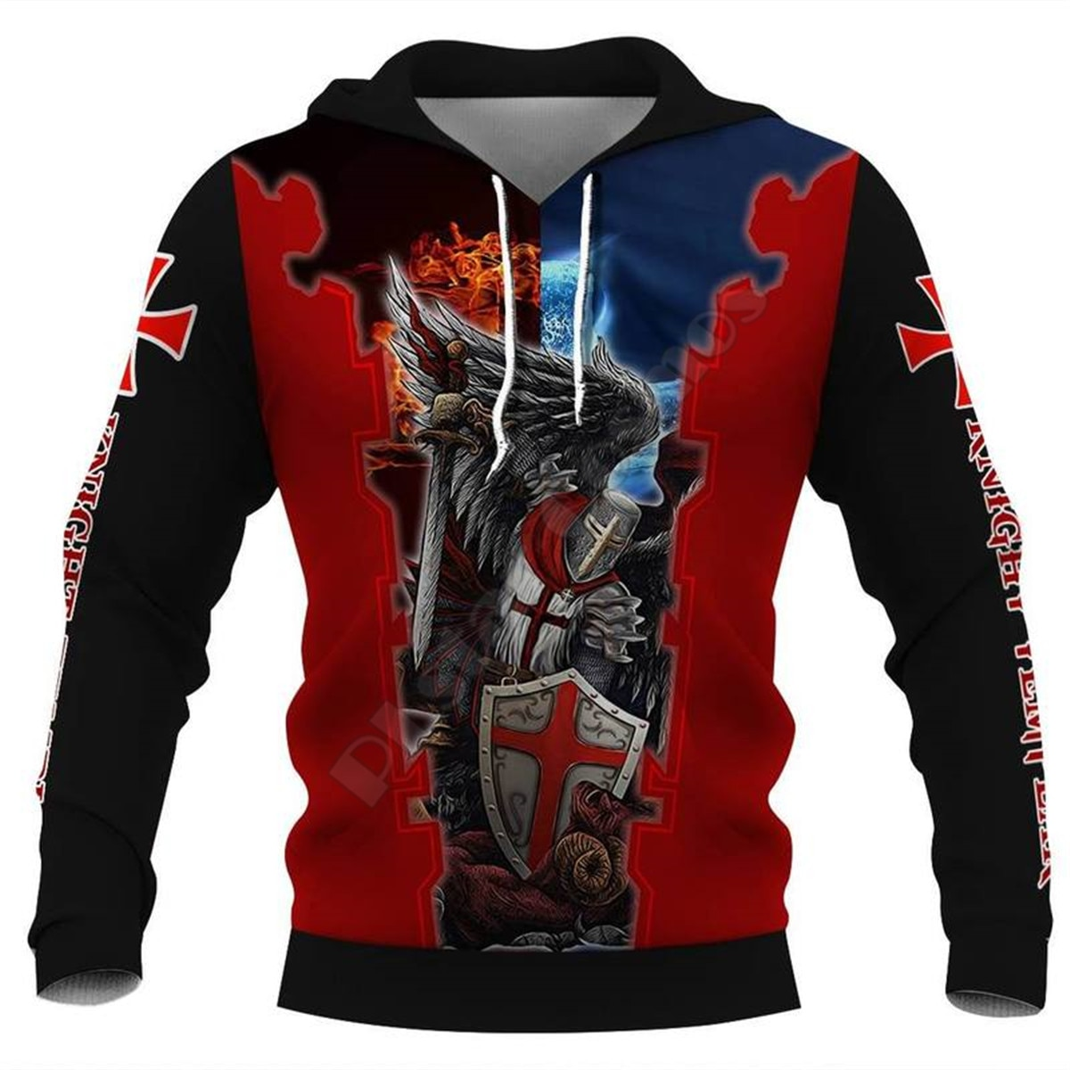 Knight Templar Armor 3D All Over Printed Hoodies Fashion Pullover Men For Women Sweatshirts Sweater Cosplay Costumes 10
