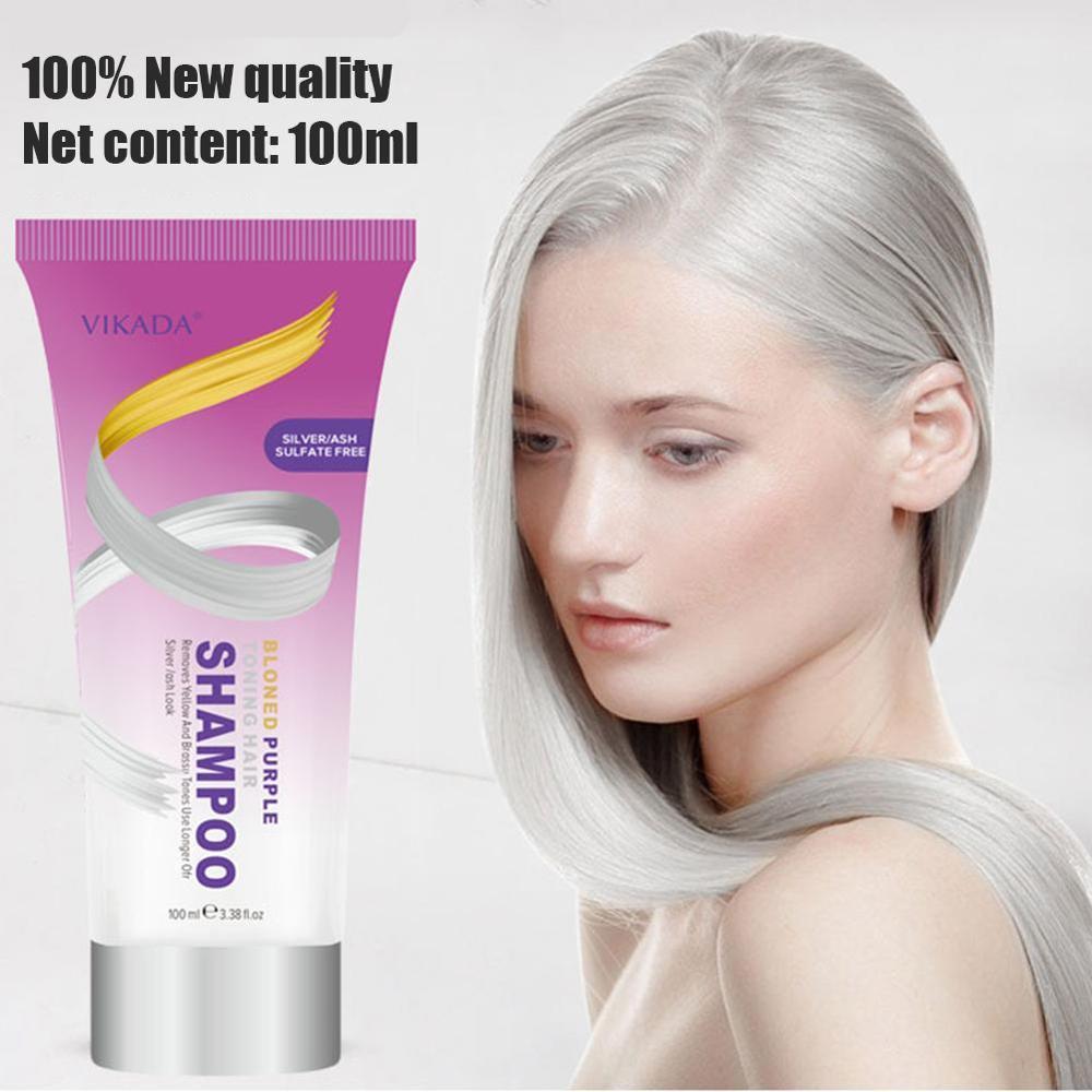 Cabelo shampoo remover amarelo roxo toner para prata loira branqueada cinza tintura de cabelo remover amarelo