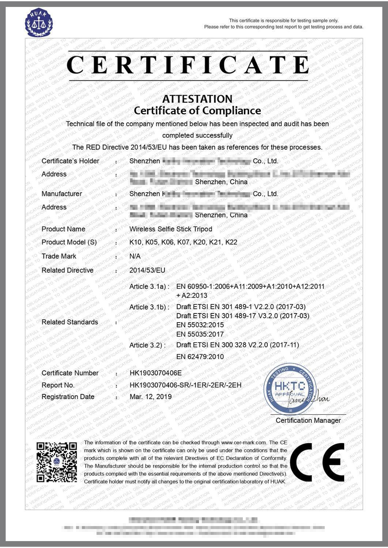 CE Certification Bluetooth Selfie Stick Remote Control Tripod Handphone Live Photo Holder Tripod Camera Self-timer Artifact Rod enlarge