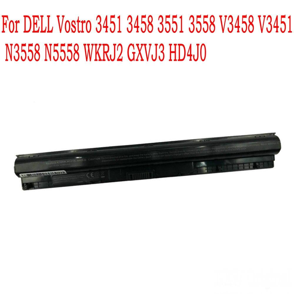 Alta Qualidade 14.8V 40WH bateria Do Portátil Para DELL Vostro 3451 3458 3551 3558 V3458 V3451 N3558 N5558 WKRJ2 GXVJ3 HD4J0
