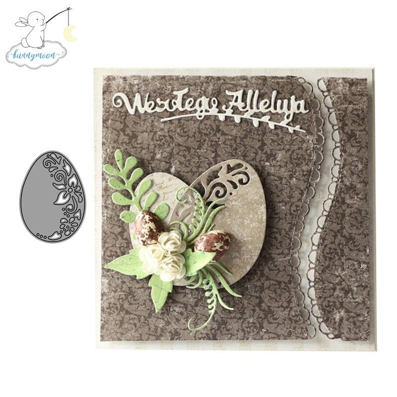 O metal do ovo do ch corta estênceis para scrapbooking álbum de fotos decoração gravando o ofício do cartão de papel