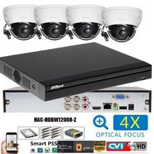 Dahua hac-hdbw1200r-z 2MP système de vidéosurveillance CCTV 4CH CVI Kit de caméra IR 30M Kit de système de caméra extérieure