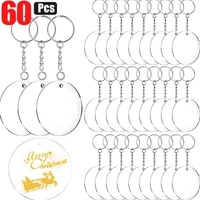 4860pieces acrylic circle blanks with key chain rings 2 inch round acrylic keychain blanks with hole clear discs circles