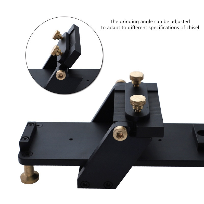 Aluminum Alloy Fixed Angle Sharpener Fast Sharpening Frame Straight Rail Woodworking Chisel Stone Sharpener Planer Chisel Cutter enlarge