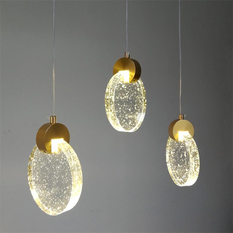 مصباح زجاجي معلق Led ، تصميم عصري مبسط ، إضاءة داخلية زخرفية ، مثالي لغرفة المعيشة أو غرفة الطعام أو البار.